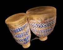 4 svarta bongos Royaltyfri Fotografi