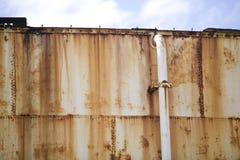 4 szczegółu rdzewiejący boczny zbiornik Obraz Stock
