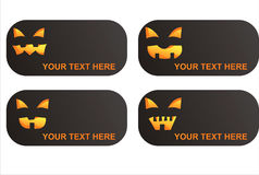 4 sztandarów Halloween set Zdjęcie Stock