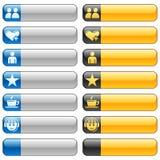 4 sztandaru guzików ikon sieć Zdjęcia Stock