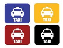 4 szyldowy taxi Obrazy Royalty Free