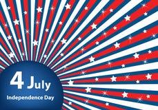 4 tła dzień niezależność Lipiec ilustracja wektor