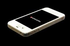4 tło czarny iphone Tom Zdjęcia Stock