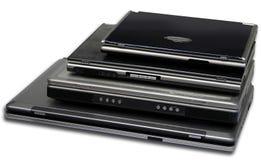 4 tallas de la computadora portátil aisladas foto de archivo libre de regalías