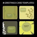 4 tarjetas de felicitación ilustración del vector