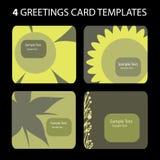 4 tarjetas de felicitación stock de ilustración