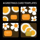 4 tarjetas de felicitación Foto de archivo libre de regalías