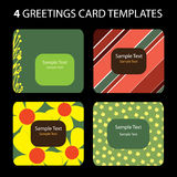 4 tarjetas de felicitación Foto de archivo