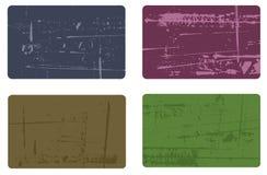 4 tarjetas de visita 2 ilustración del vector