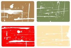 4 tarjetas de visita ilustración del vector