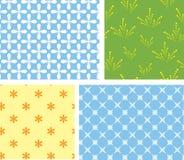 4 texturas geométricas inconsútiles del vector Fotografía de archivo