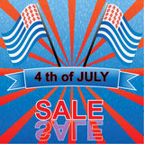 4 th of july. Sale stock illustration