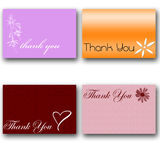 4 thank you cards Royalty Free Stock Photos
