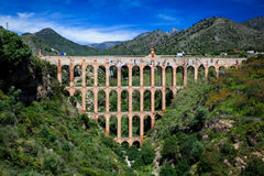 4 tier Aquaduct style gorge bridge Sierra Nevada Royalty Free Stock Photography