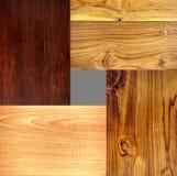 4 tipo differente strutture di legno Immagine Stock Libera da Diritti