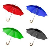 4 umbrella set Stock Photography