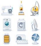4 urządzeń gospodarstwa domowego ikony rozdzielać wektor Obrazy Royalty Free
