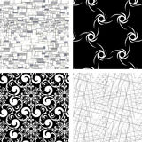 4 ustalonej tekstury ilustracja wektor