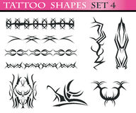 4 ustalony kształtów tatuaż Fotografia Royalty Free