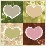 4 Valentine Hearts. A versatile Valentines Day design element, these four Valentines hearts can be used together or individually in both modern and traditional Stock Image