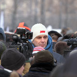 4 van Februari 2012. Vergadering in Moskou Stock Foto's