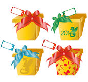 4 vector gift boxes Stock Image