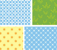 4 vector seamless geometrical textures Stock Photography