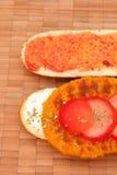 4 vegetarisches schnitzel Стоковые Изображения RF