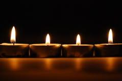 4 velas Fotografía de archivo