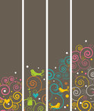 4 Vertical banners or bookmarks Royalty Free Stock Photos