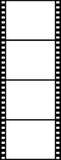4 vertikala svarta plana bilder Royaltyfria Bilder