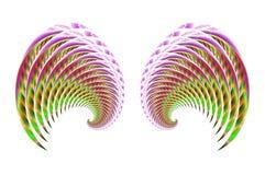 4 vingar för ängelfågelfe vektor illustrationer