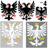 4 VOL. орлов heraldic Стоковая Фотография