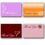4 vous remercient des cartes Illustration de Vecteur