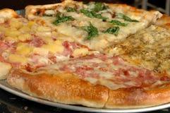 4-way pizza royalty free stock photos