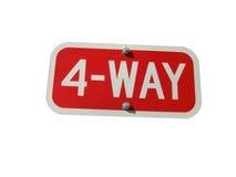 4-Way Sign Royalty Free Stock Photos