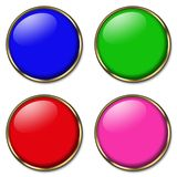4 web buttons Royalty Free Stock Photos