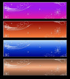 4 website banner Royalty Free Stock Image