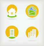 4 wektor domowy logo Obrazy Stock