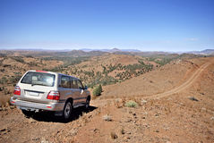4 wheel drive in remote surroundings Royalty Free Stock Image