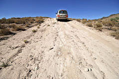 4 wheel drive in remote surroundings Stock Image
