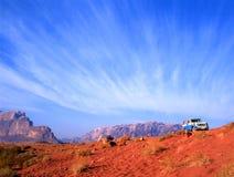 4 wheel drive in Wadi Rum desert in Jordan stock photos