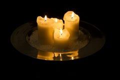4 świeczki Obrazy Royalty Free