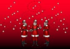 4 wielokrotność Santa Fotografia Stock