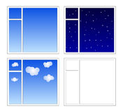4 windows Royalty Free Stock Photos