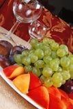 4 winogrona brzoskwinia Fotografia Royalty Free