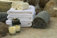4 wodospad ręczników Obraz Royalty Free