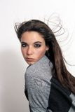 4 wspaniały brunetki headshot Obraz Royalty Free