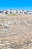 4 wzgórzy Jordan kerak kamienia miasteczko Obrazy Royalty Free