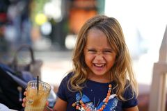 Free 4 Year Old Girl Laughing With Joy Royalty Free Stock Photo - 164367675